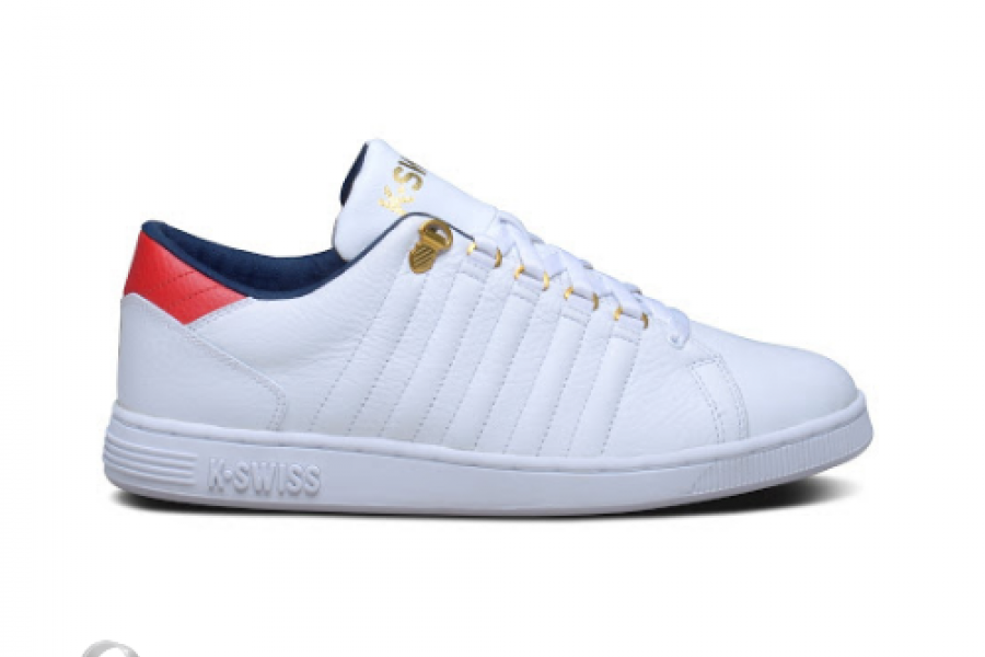 K-Swiss - Lozan III Shoes White/Dress Blues/Robin Red