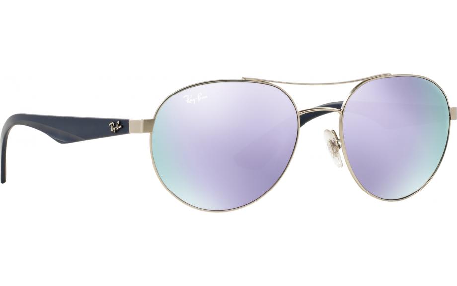 Ray Ban Unisex Round Lilac Mirror Sunglasses RB3536 0194V (55-18-145) 0b4fec2be4
