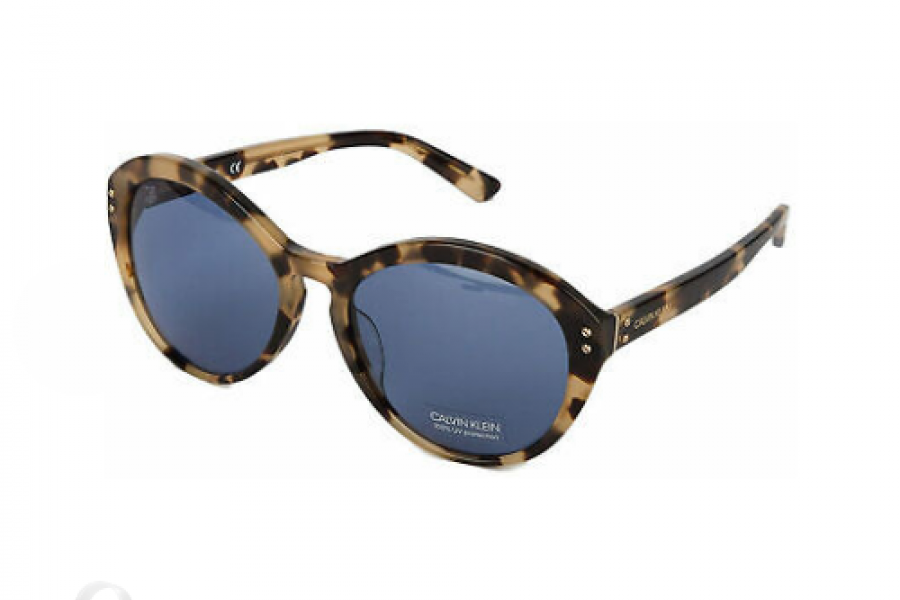 Calvin Klein - Tortoise For Women Sunglasses Blue Lens