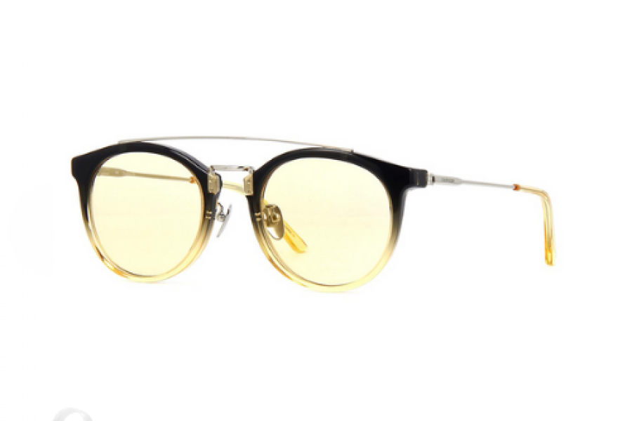 Calvin Klein - Crystal Smoke Sunglasses Yellow Gradient Lens