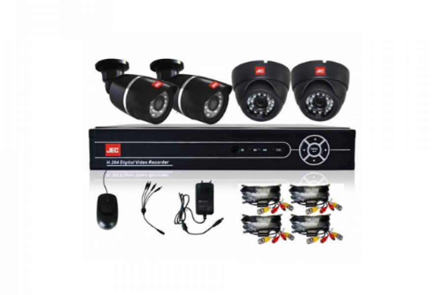 Jec Japan - 4 Camera AHD DVR Kits