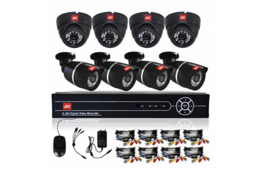 Jec Japan - 8 Camera AHD DVR Kits
