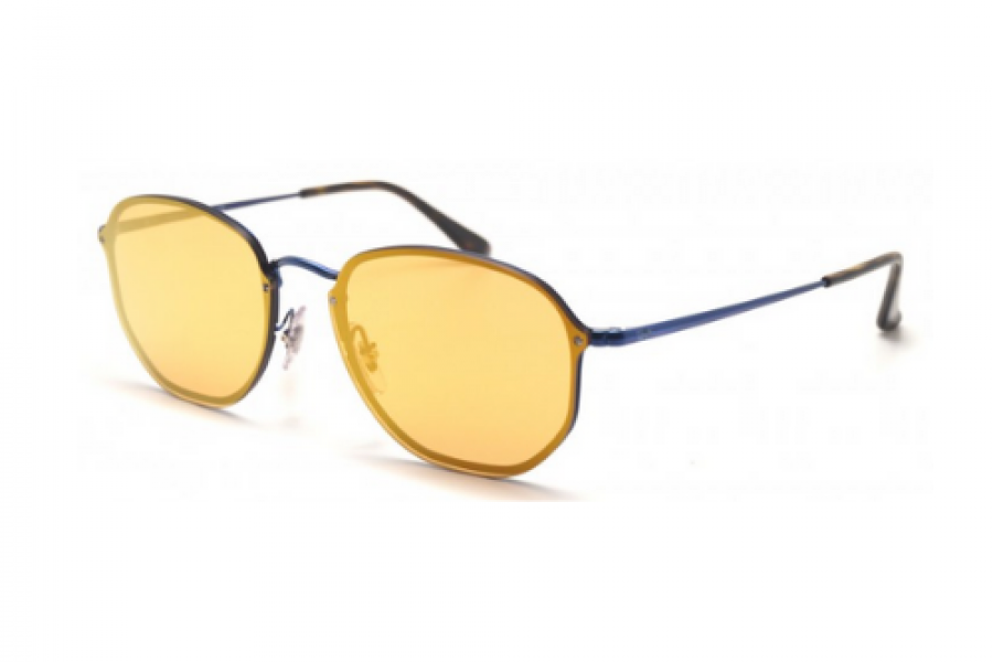 Ray-Ban - Hexagonal Blaze Blue Large Mirror Large Sunglasses