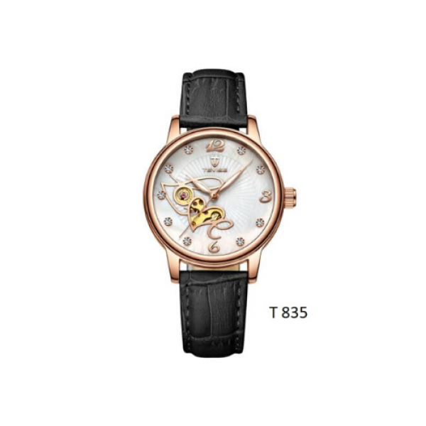 Tevise - Automatic Watch for Women Time Moon Phase Display BL