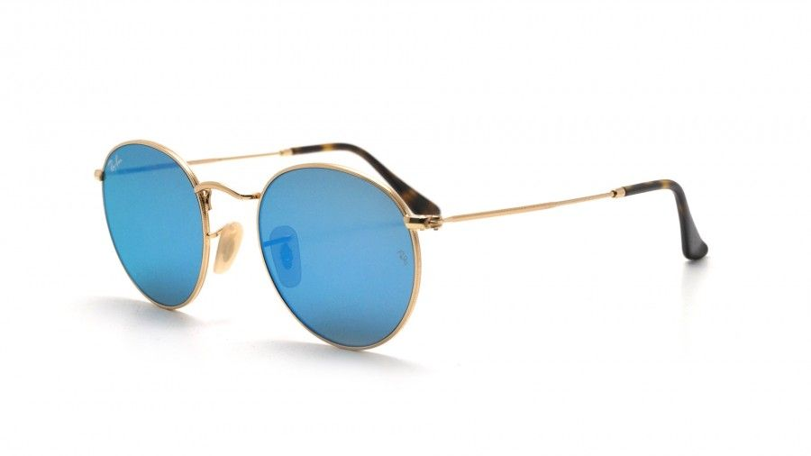 e3c1ccc924 Ray Ban Round Metal RB3447N 00190 Light Blue Gradient Flash Sunglasses (  51-21-145)